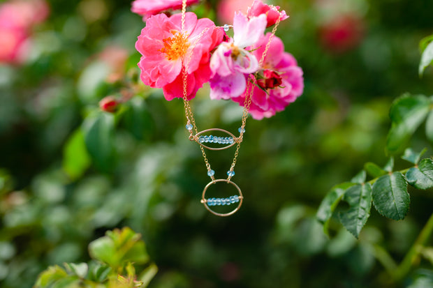 Blue Topaz Ring Necklace