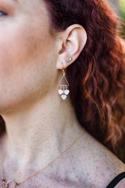 Heart Shell Dangle Earring