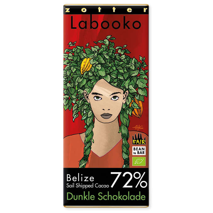 "Zotter Labooko 72% Belize ""Sail Shipped Cacao"""