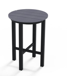 "Rustic Polymer 21"" Round High Height End Table"