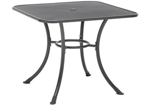 "36"" Square Mesh Dining Table w/ Umbrella Hole"