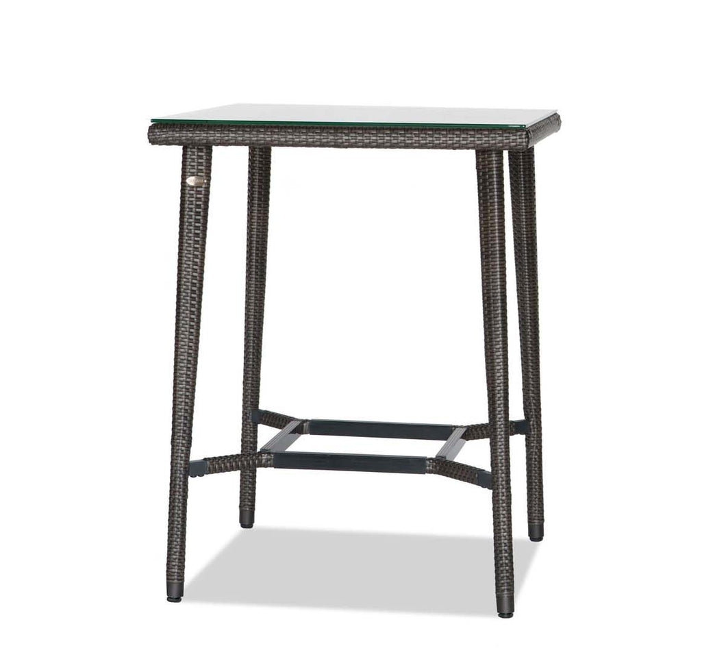 Square Bar Table w/Clear Glass