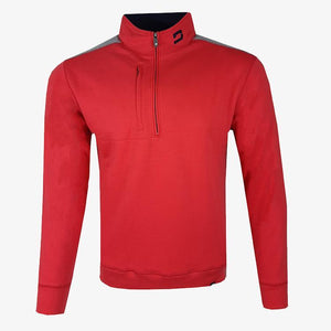Druids Mens Two Tone 1/4 Zip (Red)