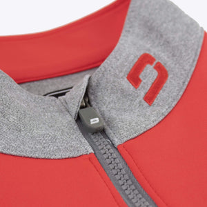 Druids Mens Storm Stripe 1/4 Zip (Red/Grey)