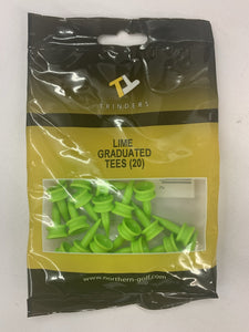 Lime Trinders Graduated Tees (20 pack)