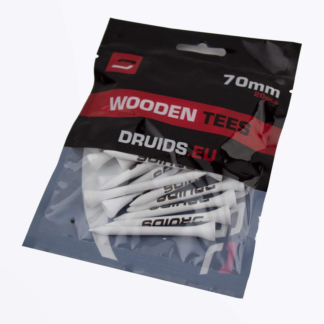 Wooden Druids Tees 70mm (20 pack)