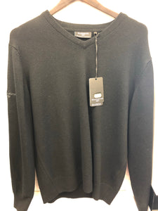 Glenmuir Lambswool Crew Neck Sweater (Black)
