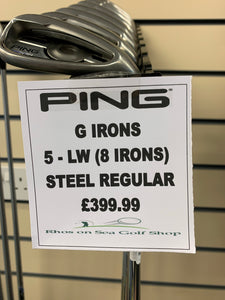Ping G Irons 5-LW (8 Irons)