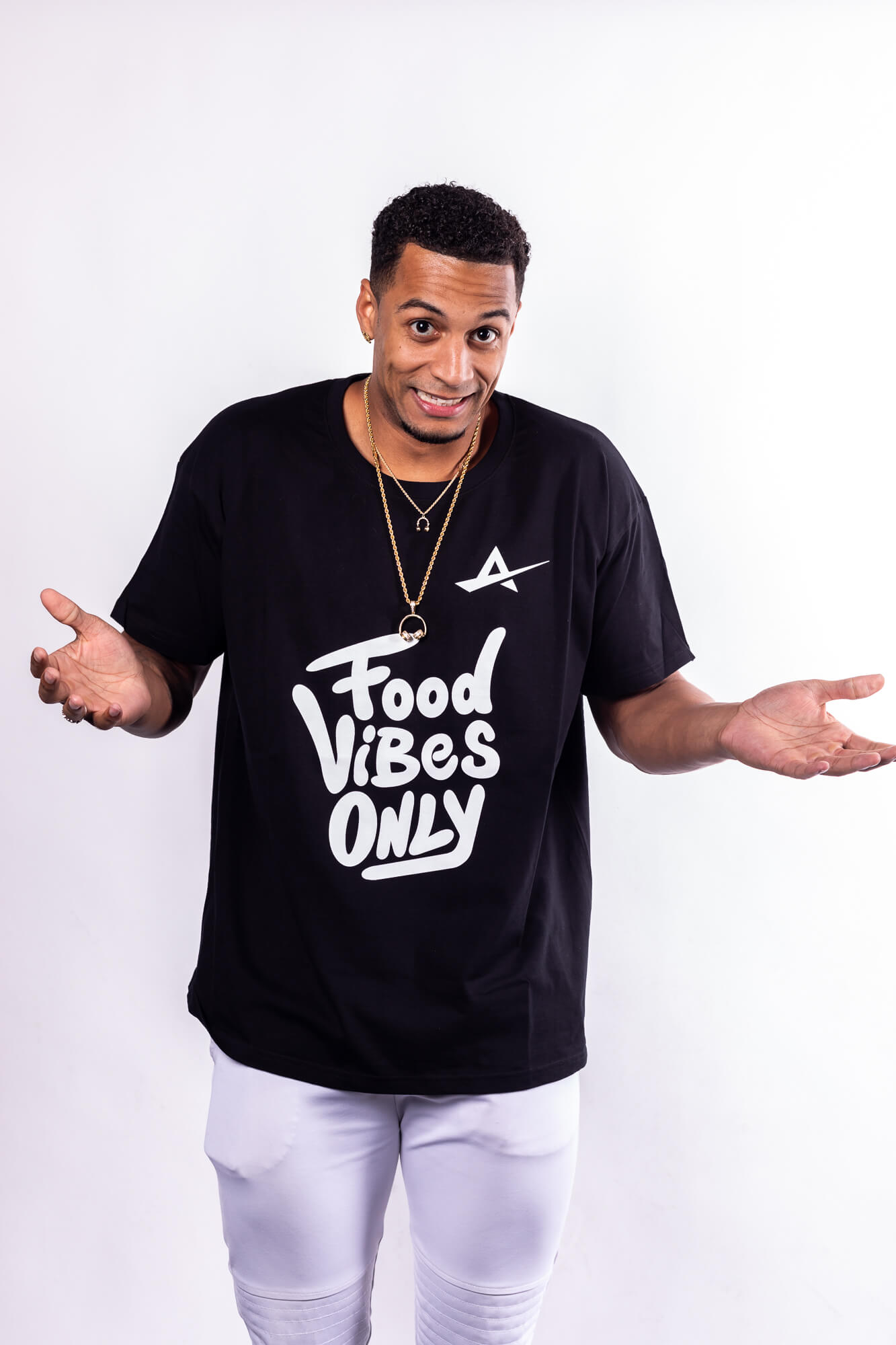 TJB - Food Vibes Only T-Shirt Zware Botten Unisex