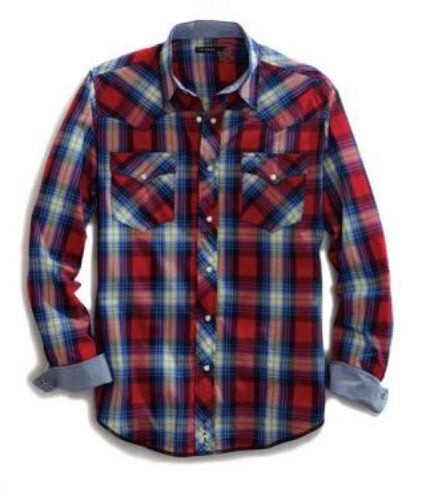 Tin Haul Men's Red Crossroads LS Shirt