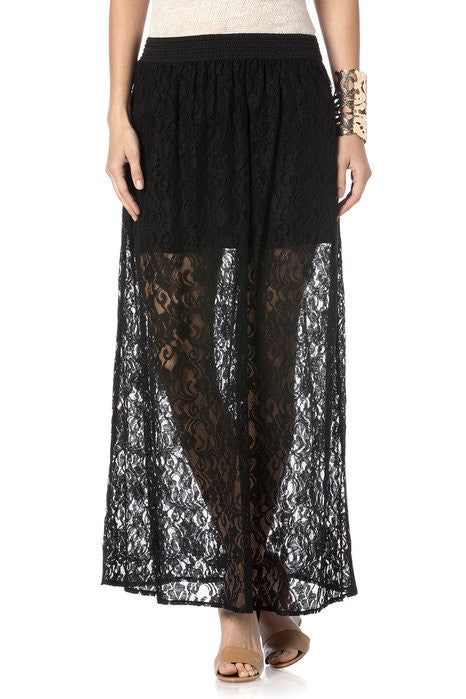 Miss Me Lace Maxi Skirt