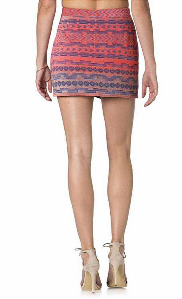 Miss Me Jacquard Front Zip Skirt MDS045S