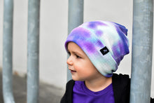 Load image into Gallery viewer, RTS Purple Blue Tie Dye Slouchy