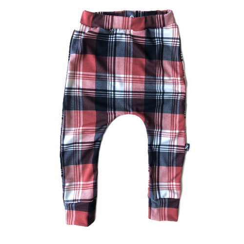 Rust Plaid Jogger