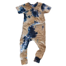 Load image into Gallery viewer, RTS Tan Tie Dye Romper