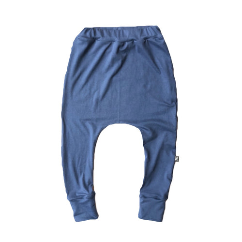 Denim Blue Knit Joggers