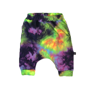 Neon Rainbow Galaxy Tie Dye Shorts