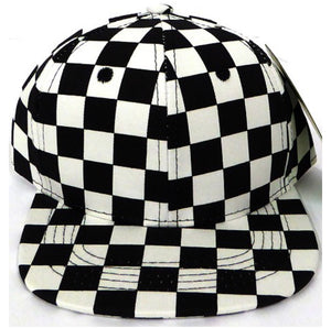 Kid Black Check Snapback