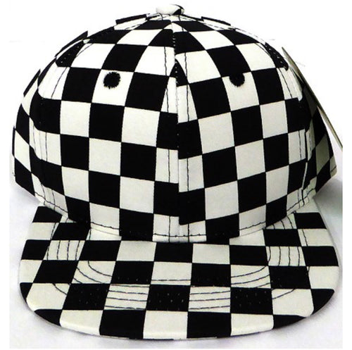 INFANT Black Check Snapback
