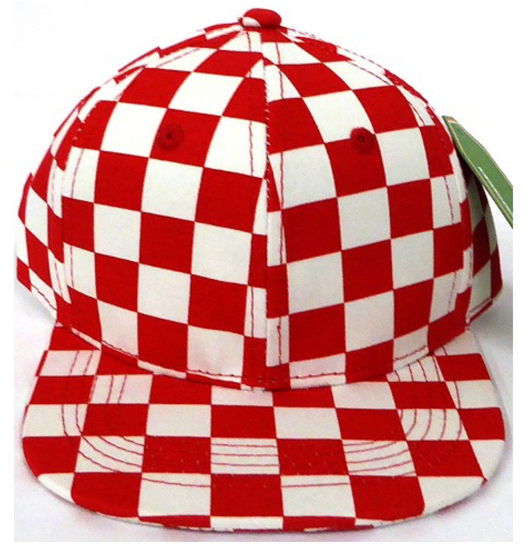 INFANT Red Check Snapback