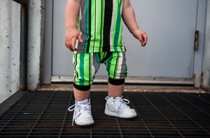 RTS Neon Green Stripe Shorts