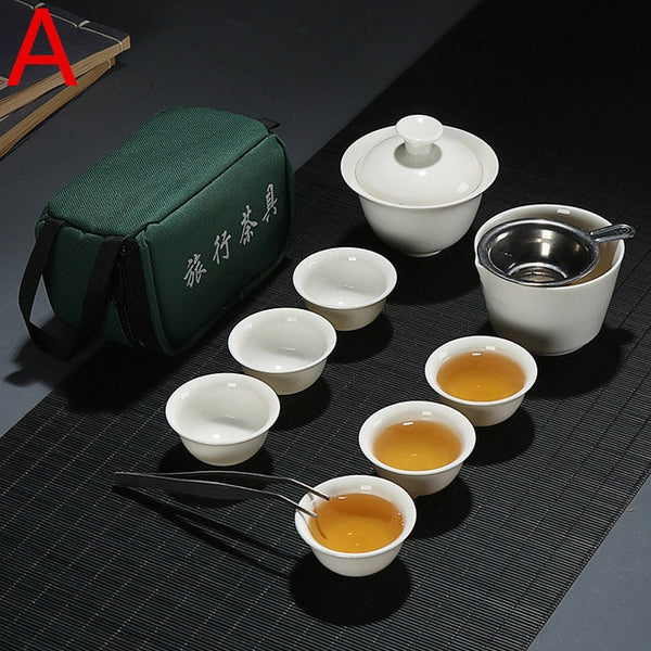ANCHENG Ceramic Chinese Teapot Set