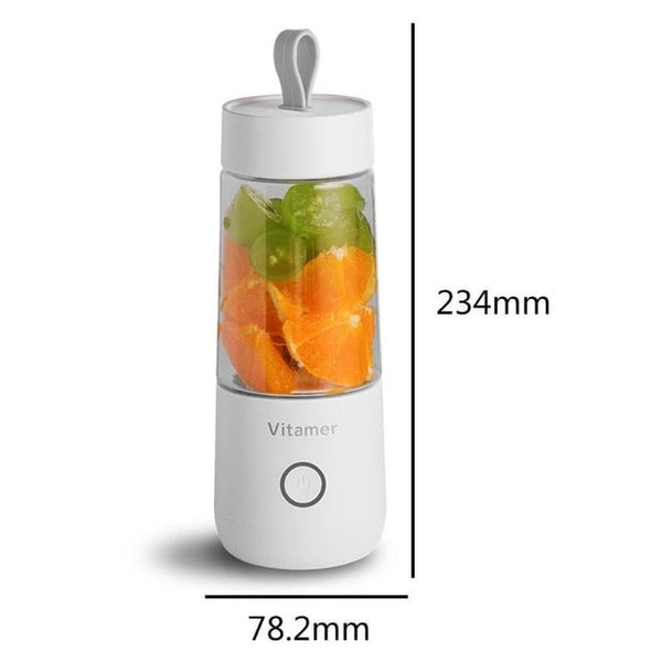 350ml Portable Juicer Electric USB Rechargeable Smoothie Blender Machine Mixer Mini Juice Maker Fast Food Processor Mobile Mixer