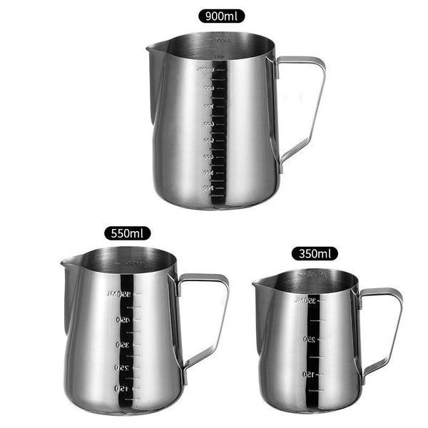 350/550/900ml Stainless Steel Milk Frothing Espresso Coffee  Craft Latte Cappuccino Milk  Cup Frothing Jug Pitcher