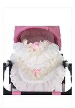 Load image into Gallery viewer, Roma dolls pram bedding set with rose detail
