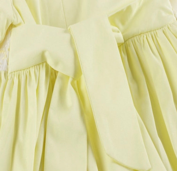 Beautiful hand smocked lemon dress and pants set