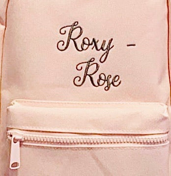 Pink Personalised backpacks