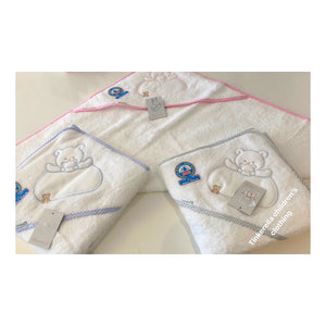 Soft teddy hooded towels