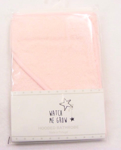 Plain pink hooded bath towel