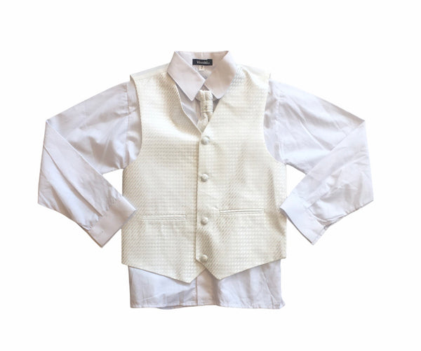 Boys 4 piece suit set in white
