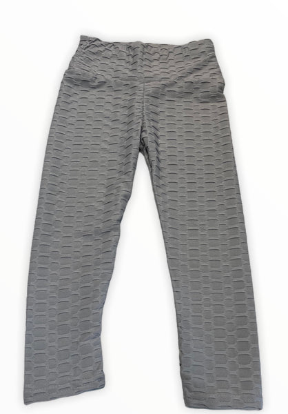 Grey patterned leggings