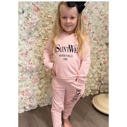 "Pink ""ye saint west"" loungewear"