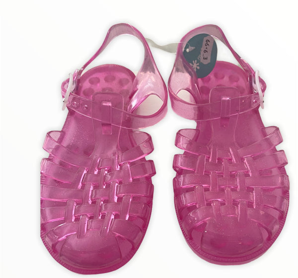 deep pink jelly shoes