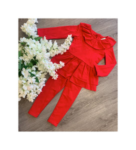 Red bow detail lounge wear