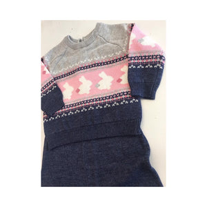 Girls bunny knit 2 piece