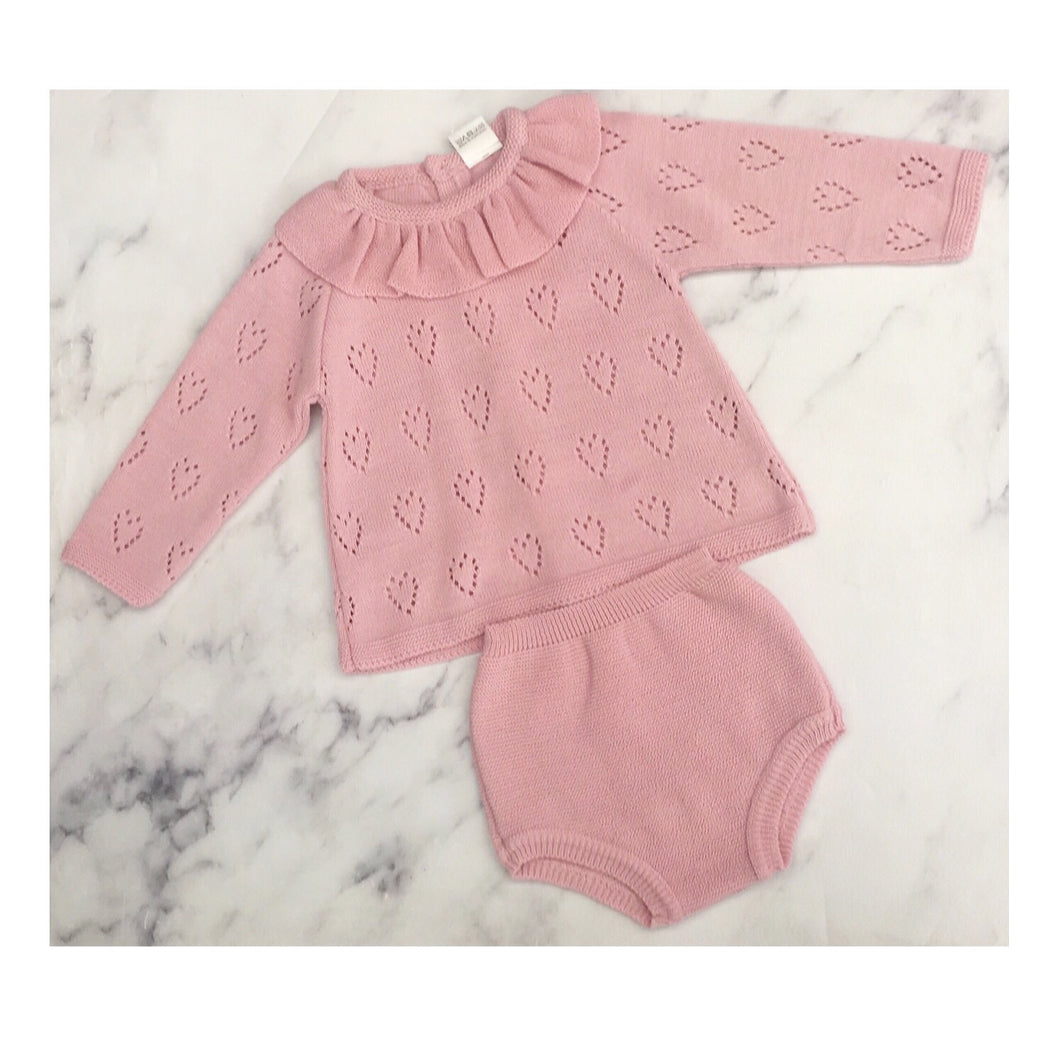 Blush 2 piece with cut out heart detail