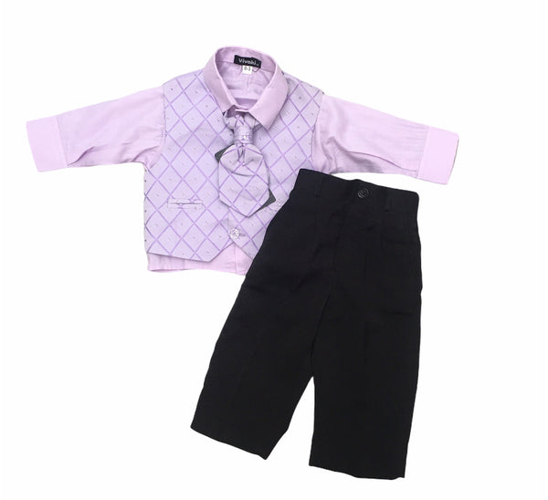 Purple 4 piece suit
