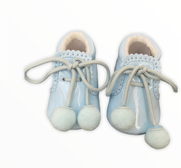 Baby blue pom sevva shoes