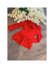 Load image into Gallery viewer, Red bow detail lounge wear
