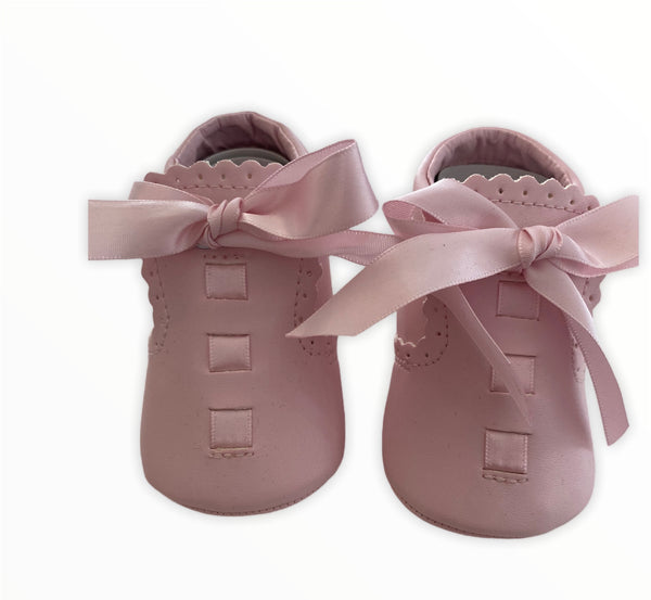 Pink bow sevva shoes
