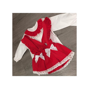 Red spanish romper set