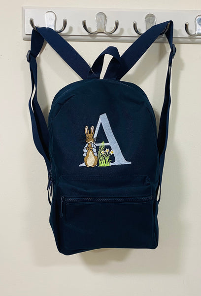 Navy Personalised backpacks