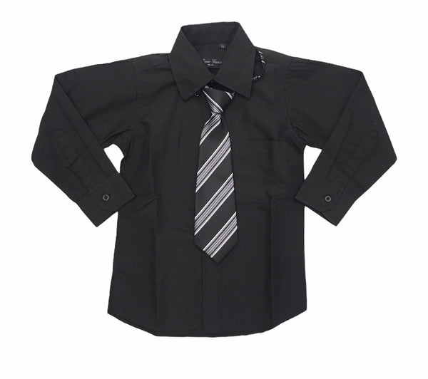 Shirt and tie comes in 5 colours