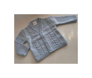 Blue fine knit cardigan