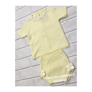 Unisex knitted lemon set