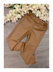 Brown leather look like leggings